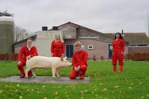 Studenten Aeres Hogeschool Dronten kiezen voor WellFarrowing vrijloop kraamhokken